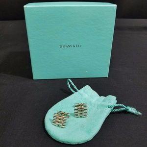 Tiffany Cuff Links 925 Sterling Silver 18 K Gold
